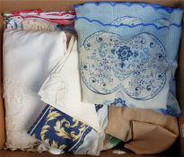 Vintage Box of Linen