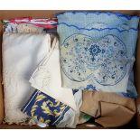Vintage Box of Linen