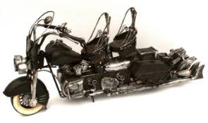 Vintage Metal Model Motor Bike Steam Punk Style