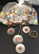Vintage Parcel of Costume Jewellery Beads & Tiara