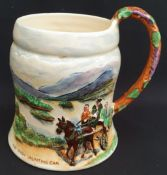 Antique Crown Devon Fieldlings Musical Tankard The Irish Jaunting Car