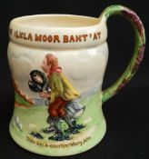 Antique Crown Devon Fielding Musical Tankard On Ilkla Moor Baht' At