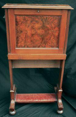 Antiques Edwardian Slim Ladies Upright Writing Desk
