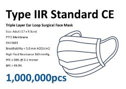 Trade Quantities of Certified Type IIR Surgical Grade Face Masks, Thermometers, Full Face Visors & Aprons.