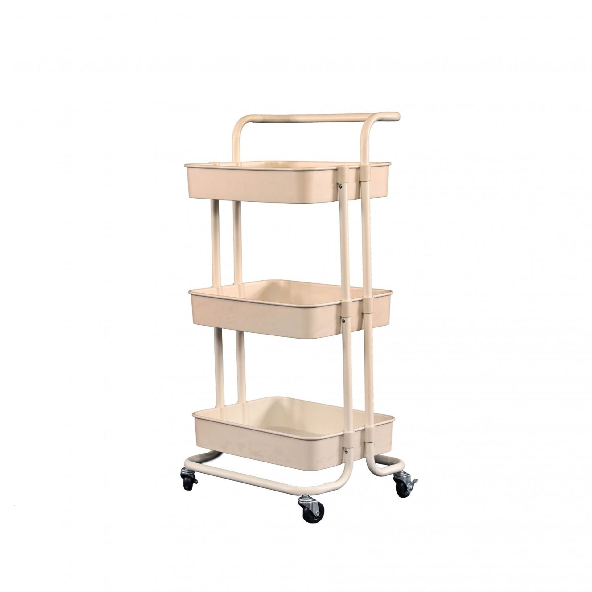 Lot 188 - (RL121) 3 Tier Household Kitchen Bathroom Storage Trolley Cart Shelf The storage trolley is ...