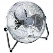 "(KK129) 14"" Inch Chrome 3 Speed Floor Standing Gym Fan Hydroponic Stay cool this year with t..."