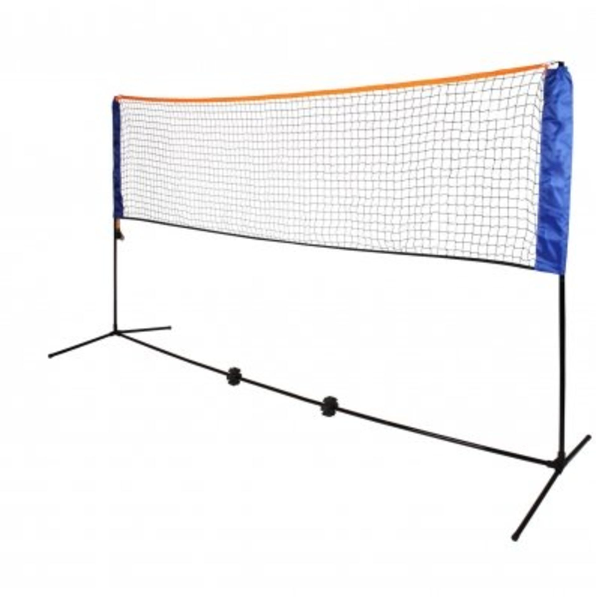 (RL29) Medium 4m Adjustable Foldable Badminton Tennis Volleyball Net The posts are able to...