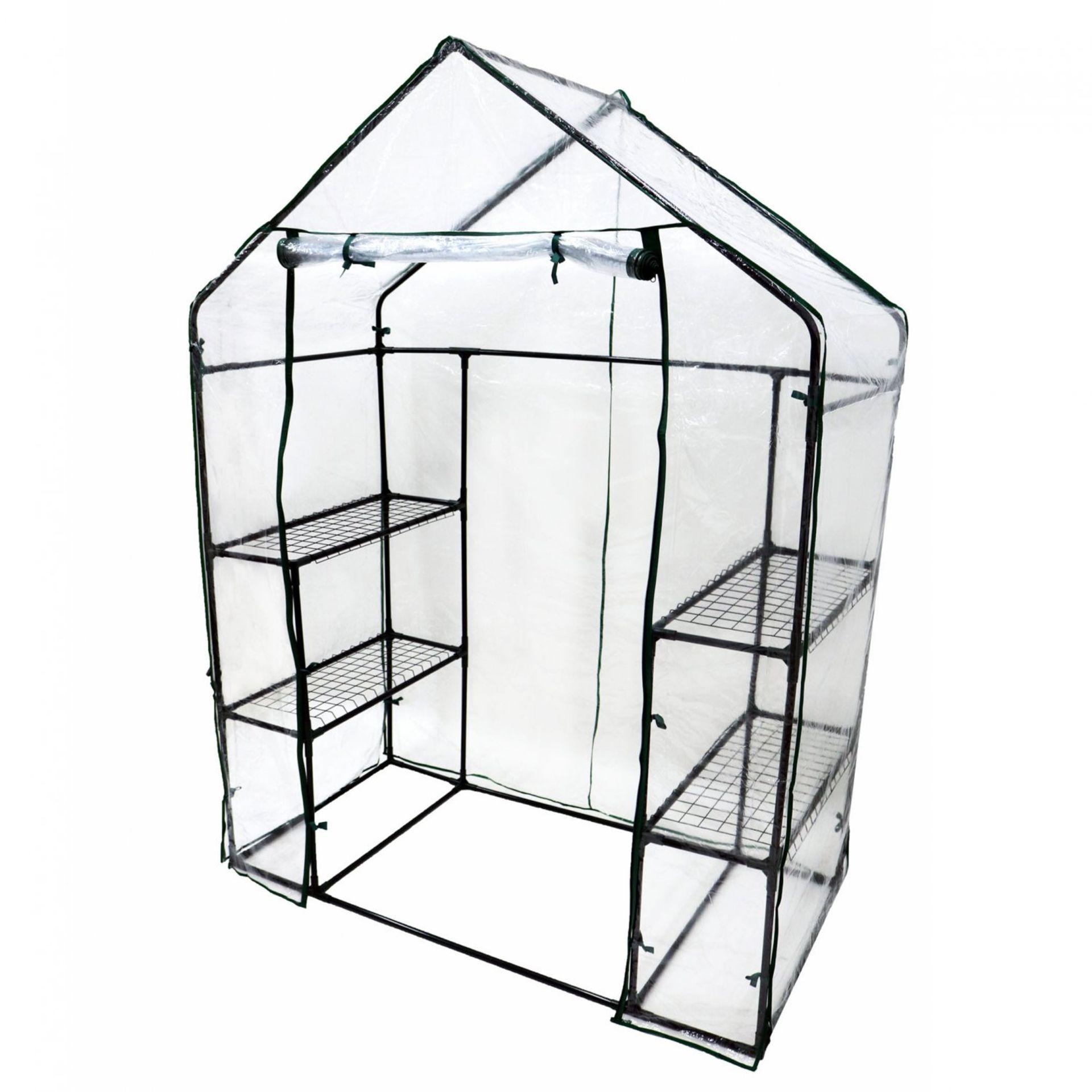 Lot 170 - (RL113) 3-Tier 4 Shelf Mini Walk-in Growhouse Garden Greenhouse Our 3-tier Grow House p...