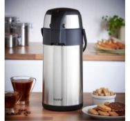 (OM14) 3L Air Flask Suitable for both hot and cold drinks Keeps hot drinks warm and iced drinks...