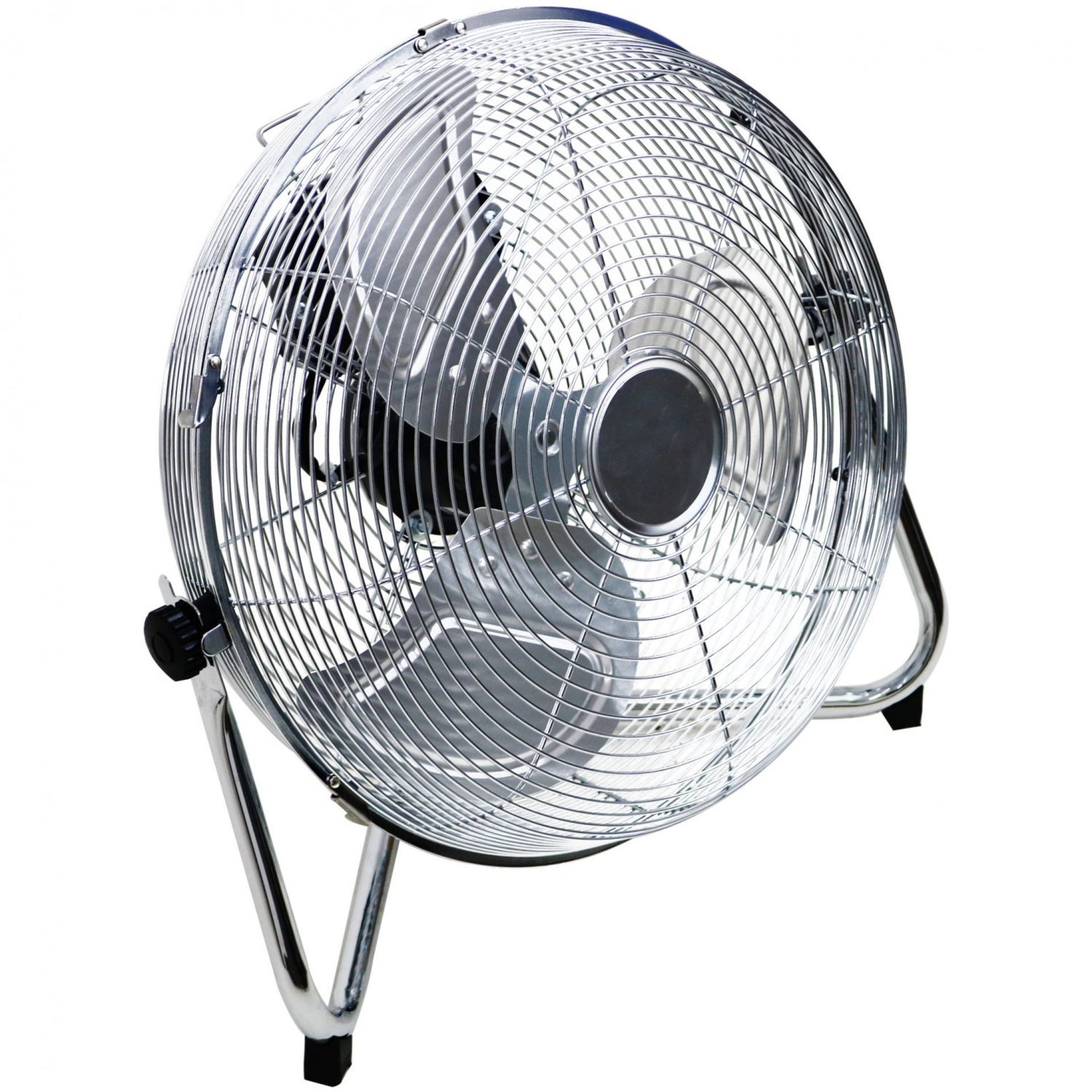 """Lot 189 - (RL122) 14"""" Inch Chrome 3 Speed Floor Standing Gym Fan Hydroponic Stay cool this year with t..."""