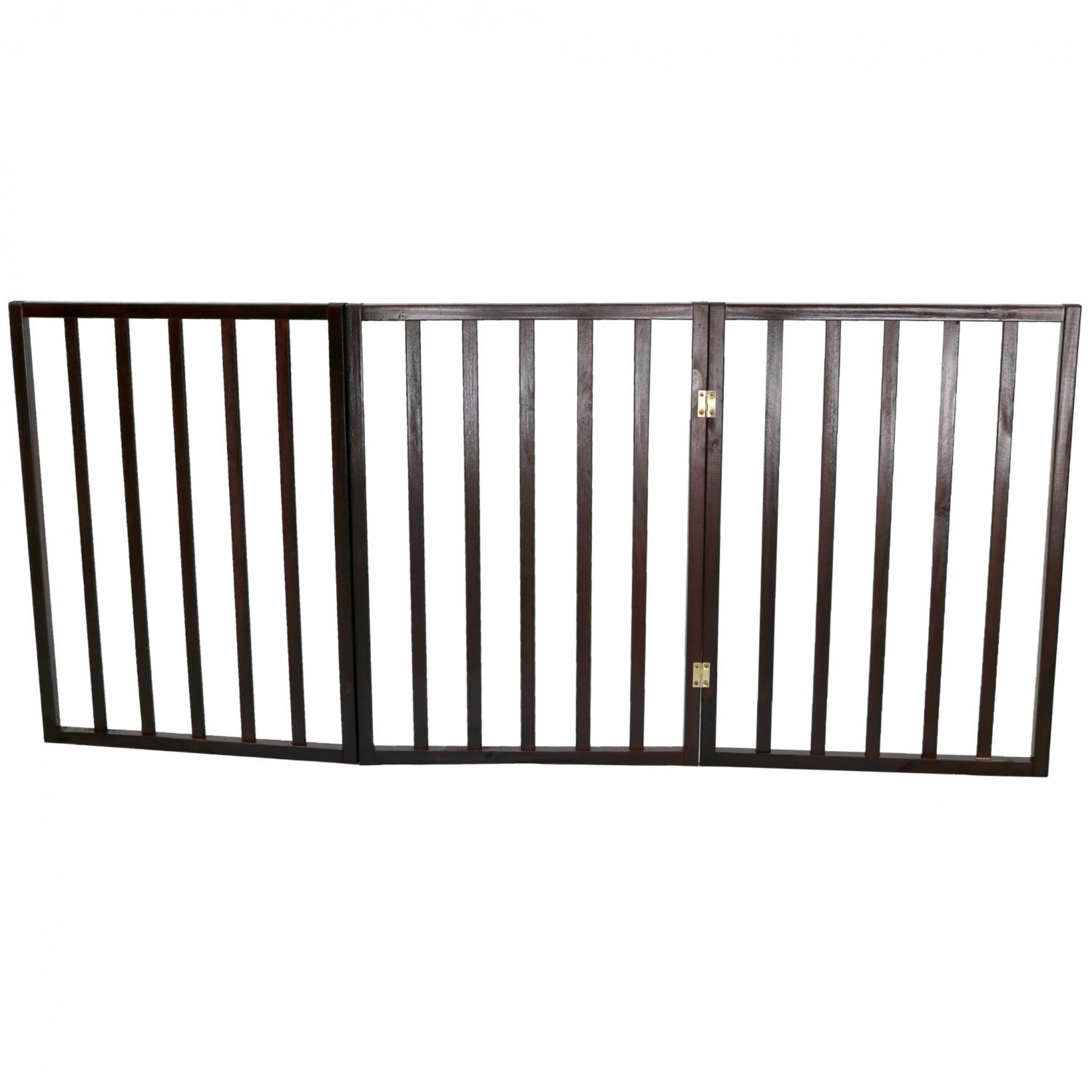 (RL31) Dog Safety Folding Wooden Pet Gate Portable Indoor Barrier Keep your dog from tread... - Image 2 of 2