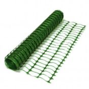 (RL26) 1 x Heavy Duty Green Safety Barrier Mesh Fencing 1mtr x 50mtr One roll of heavy d...