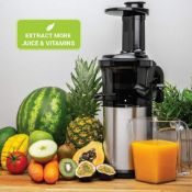 Andrew James Masticating Slow Juicer Machine,Juices Various Fruit Veg Fresh. SLOW MASTICATING ...