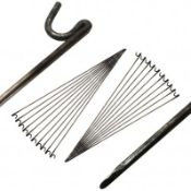 (PP53) Pack of 20 x FENCING PINS for Temporary Barrier Fencing! This is a quick and easy w...