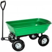 (PP536)125L Garden Cart. This ultimate garden cart with tipping function will prove to be an i...