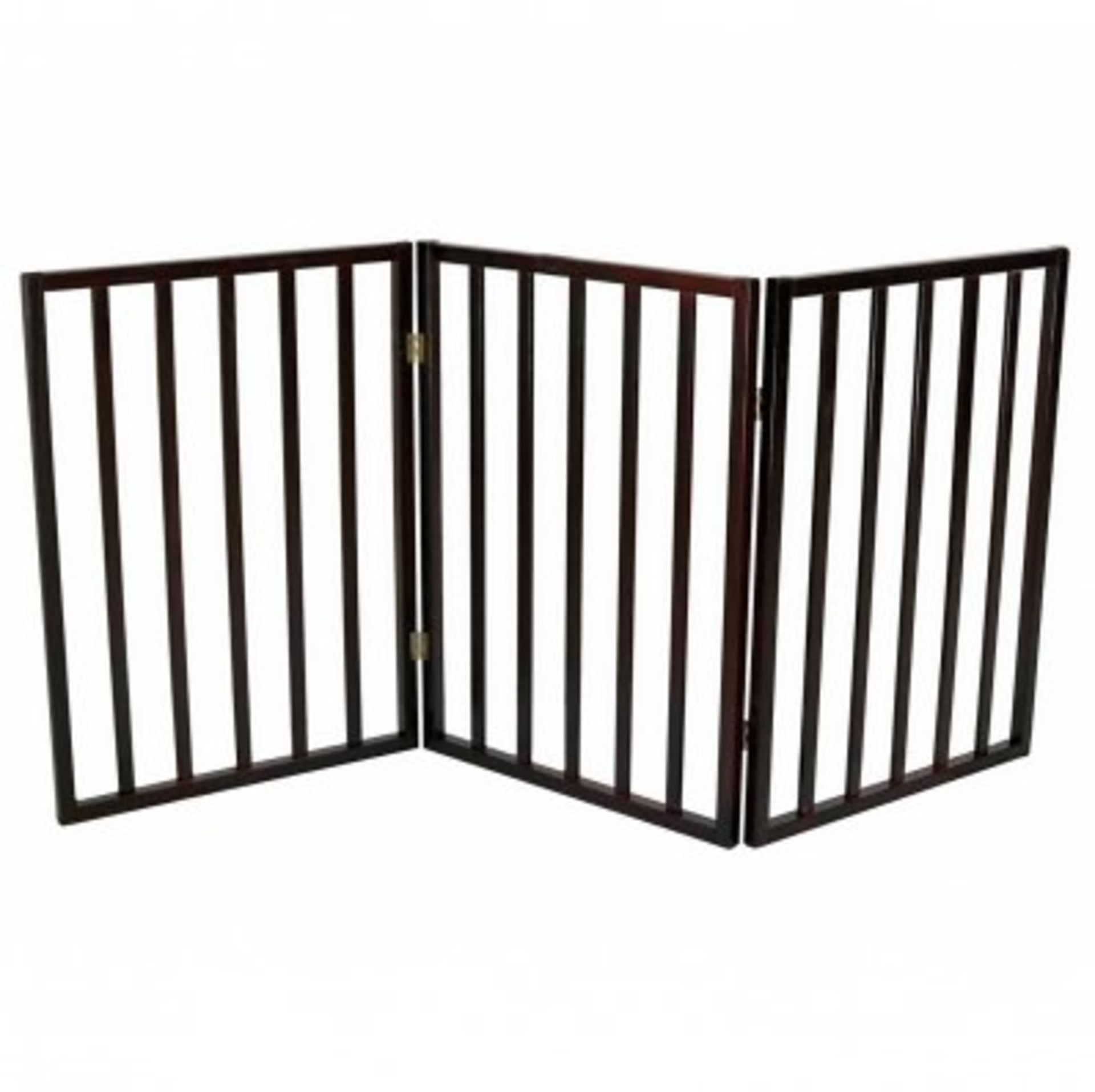 (RL31) Dog Safety Folding Wooden Pet Gate Portable Indoor Barrier Keep your dog from tread...