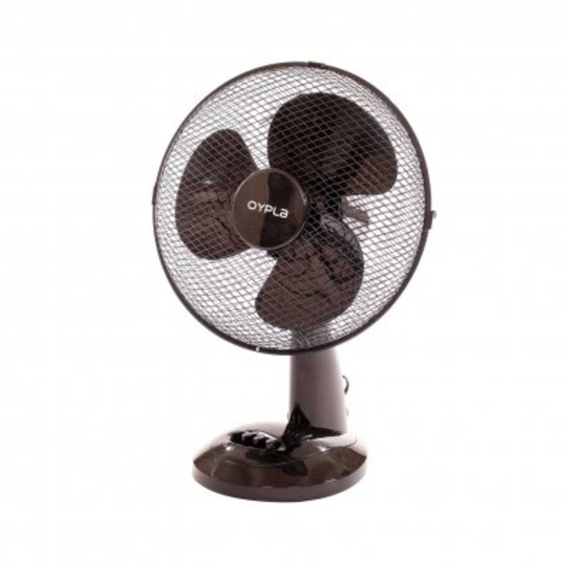 """Lot 166 - (RL112) 12"""" 3 Speed Oscillating Black Electric Desk Home Office Fan Stay cool this year with..."""