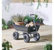 (PP70) 75ltr Garden Dump Trolley Cart Ideal for transporting and unloading plants, soil, stone...