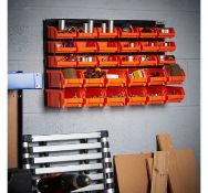(TD3) 30pc DIY Organiser Versatile 30 bin storage solution for workshops, garages and sheds. P...