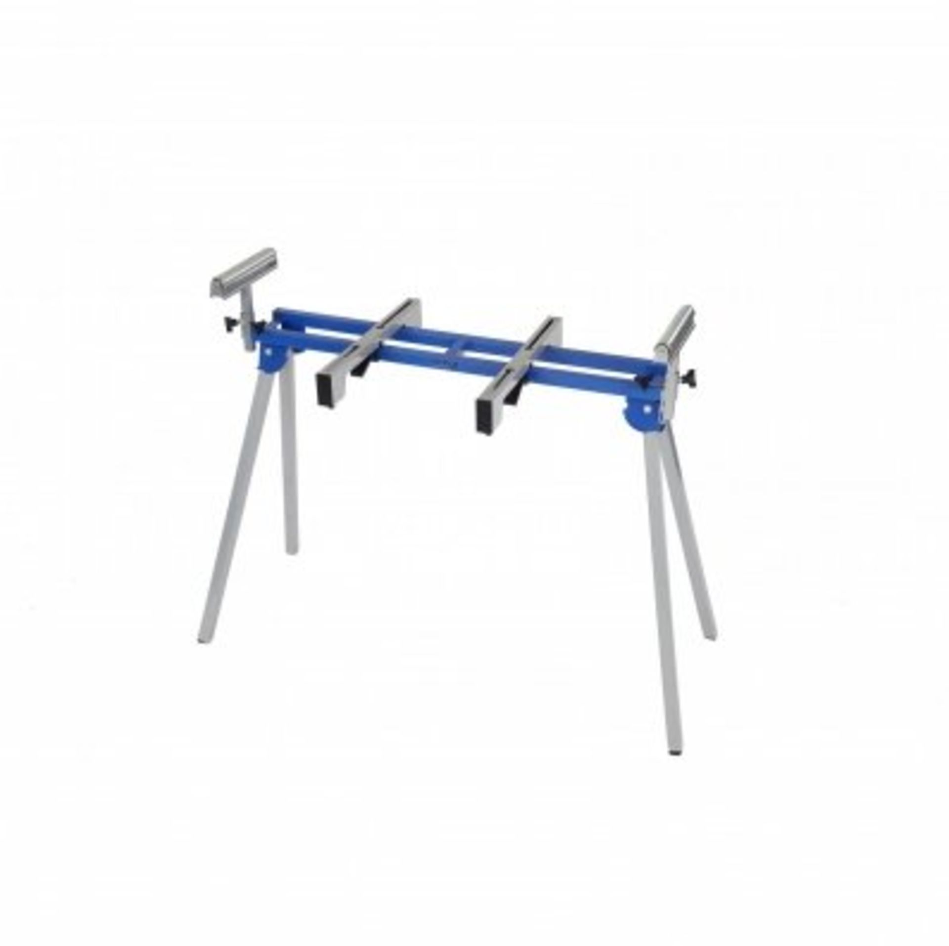 Lot 58 - (RL46) Universal Mitre Saw Stand with Extending Support Arms & Rollers The mitre saw stand...