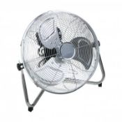 "(RL124) 12"" Inch Chrome 3 Speed Floor Standing Gym Fan Hydroponic Stay cool this year with t..."