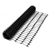 (RL24) 1 x Heavy Duty Black Safety Barrier Mesh Fencing 1mtr x 25mtr One roll of heavy d...