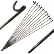 (PP561) One Pack of 10 x FENCING PINS for Temporary Barrier Fencing! This is a quick an...