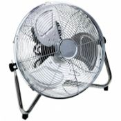 "(RL122) 14"" Inch Chrome 3 Speed Floor Standing Gym Fan Hydroponic Stay cool this year with t..."