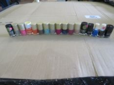 72,000 x Various nail varnish. Includes a large selection of colours and styles such as mystica...