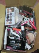 Circa. 200 items of various new make up acadamy make up to include: prism holographic stick, ey...