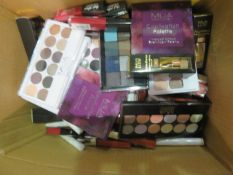 Circa. 200 items of various new make up acadamy make up to include: captivation palette, power ...
