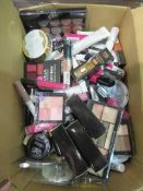 Circa. 200 items of various new make up acadamy make up to include: paintbox multishade lip pal...