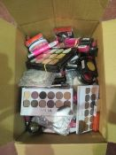 Circa. 200 items of various new make up acadamy make up to include: powerpout glaze, skin defin...