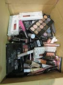 Circa. 200 items of various new make up acadamy make up to include: enchanted 5 silk eye shadow...
