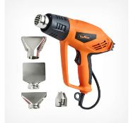 (GE91) 2000W Heat Gun Ideal for DIY projects, bending copper pipes, loosening rusted bolts, li...