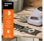 (VL32) 3.6V 2 in 1 Cordless Trimmer & Edger Includes 10cm trimmer blade (cuts branches up t...