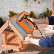 (JH46) 5A Electric Staple Gun & Nailer – Includes Staples & Nails Suitable For Fabrics, Uphol...