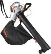 (GE57) 3 in 1 Leaf Blower - 3000W Garden Vacuum & Mulcher - Large 45 Litre Collection Bag – 1...