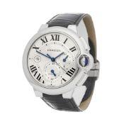 Cartier Ballon Bleu XL W6920003 or 3109 Men Stainless Steel Chronograph Watch