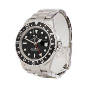 Rolex GMT-Master II 16710 Men Stainless Steel Rectangular Dial Watch