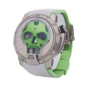 HYT H1 0 S48-TT-35-GF-RA Men Titanium Skull Watch