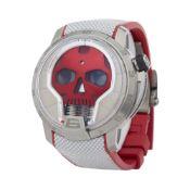 HYT H1 0 S48-TT-34-RF-RA Men Titanium Skull Watch