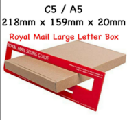 5000 x C5 /A5 Pip Box Shipping Mail Postal Small Letter Boxes