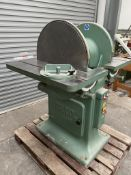 Phillipson 24inch double disc sander, Wadkin green
