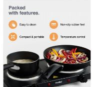 (OM28) Double Hot Plate Small, lightweight and easily portable, use the hot plate for cooking ...