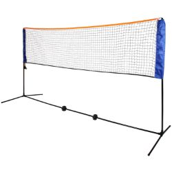 (G12) Large 5m Adjustable Foldable Badminton Tennis Volleyball Net Easy Fold Out Assmbly - F...