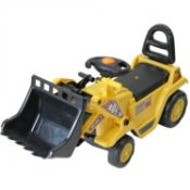 (G86) Childrens 3-in-1 Ride On Yellow Mini Digger Bulldozer Forklift Dimensions: 80 x 26.5 x 4...