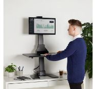 (AP86) Electric Single Monitor Riser The screen and desk space can be smoothly and quietly adj...