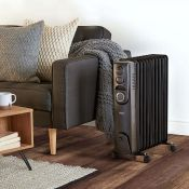 (V217) 11 Fin 2500W Oil Filled Radiator - Black 4.7 star rating53 Reviews 2500W radiator with...