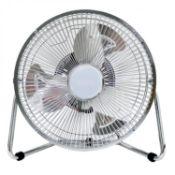 "(D33) 9"" Inch Chrome 3 Speed Floor Standing Gym Fan Hydroponic9"" Inch Chrome 3 Speed Floor St..."